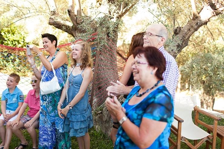 eerste blik emoties bruiloft griekenland