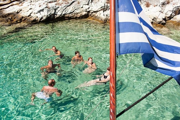 zwemmen bruiloft griekenland