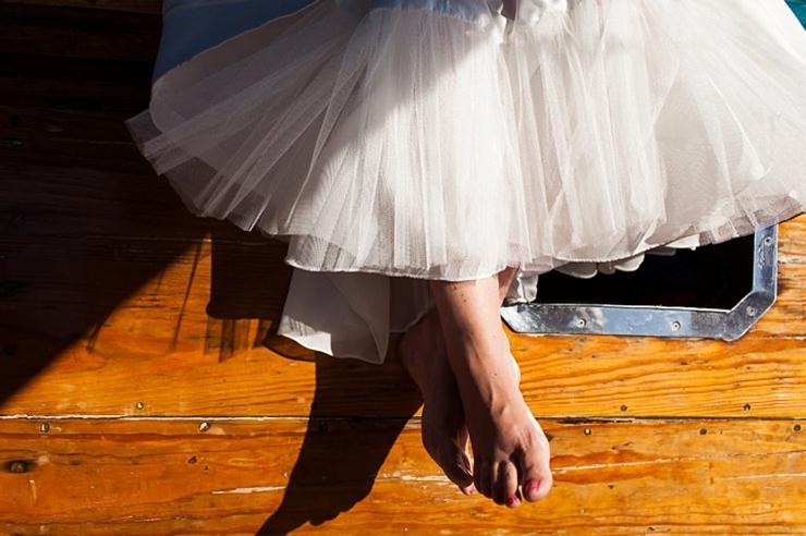 blote voeten bruid