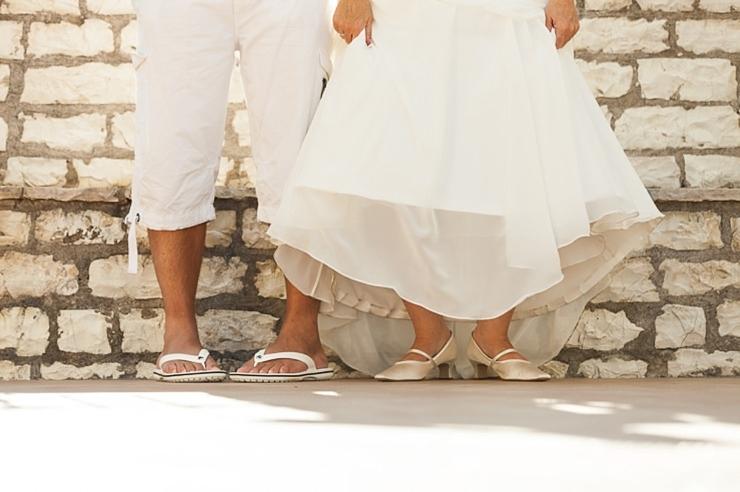 schoenen bruidspaar griekenland