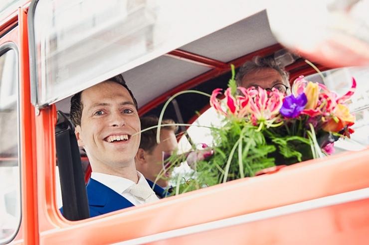 bruidegom rode eend
