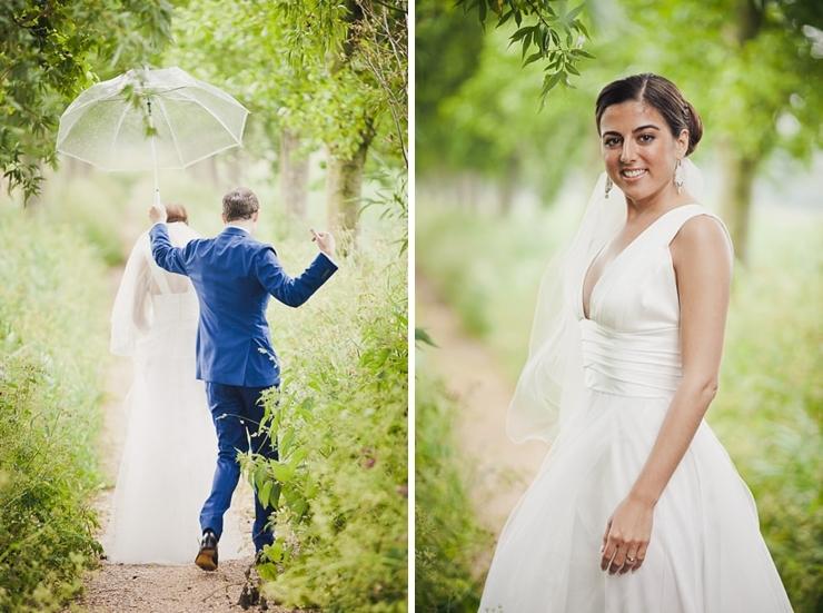 bruidspaar regen bruidsfotograaf middelburg