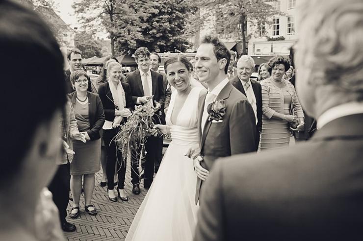 bruidspaar zwart wit