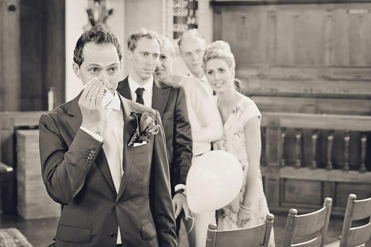 bruidegom traan