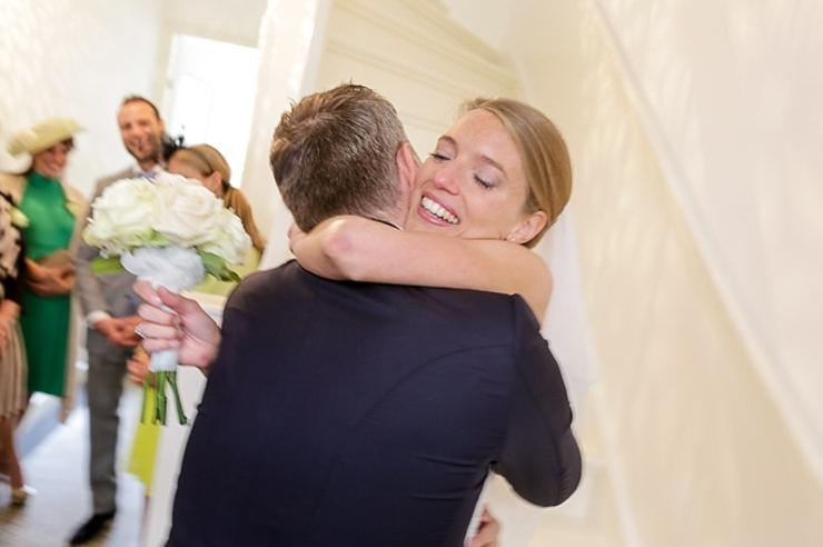 trouwfotograaf wassenaar bruidspaar first look