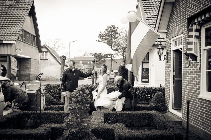 Bruidsfotograaf Haarlem vertrek