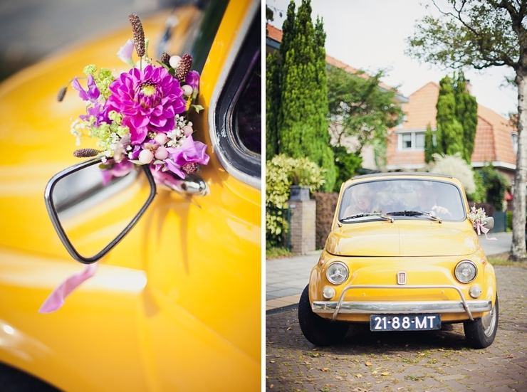 fiat trouwauto - bruidsfotograaf den haag