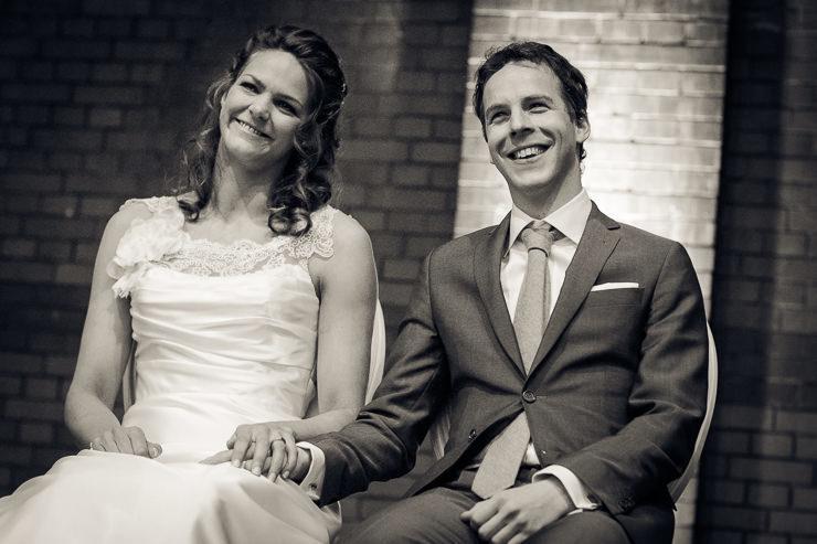 Bruidspaar ceremonie trouwfotografie Haarlem