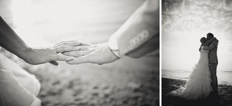 bruidsreportage aan het strand
