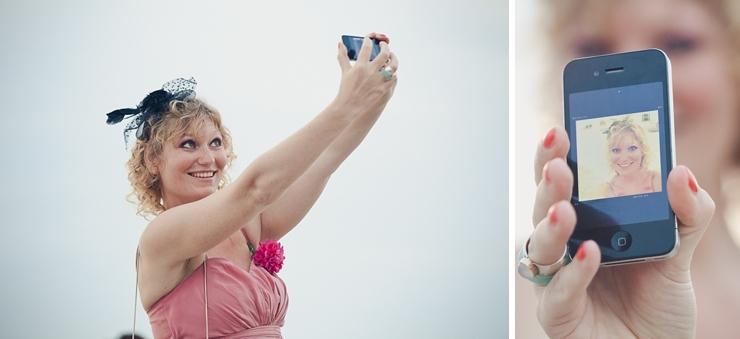 bruidsfotograaf den haag - selfie time