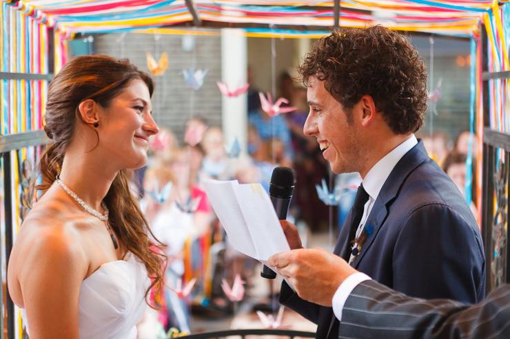 vintage trouwfeest kerkdienst geloften
