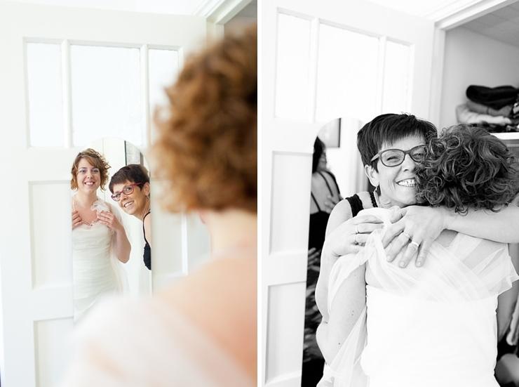 de bruid en haar moeder