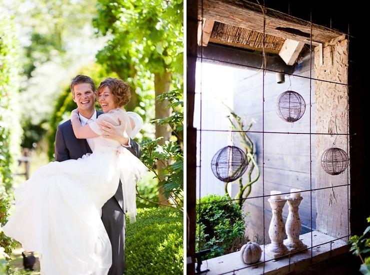 bruidspaar Domaine d'Heerstaayen