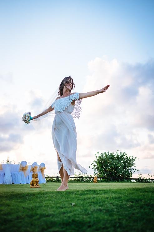trouwfotografie Bali - bruidspaar zonsondergang