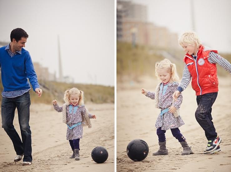 kinderen met bal familiefotografie kinderportret den haag