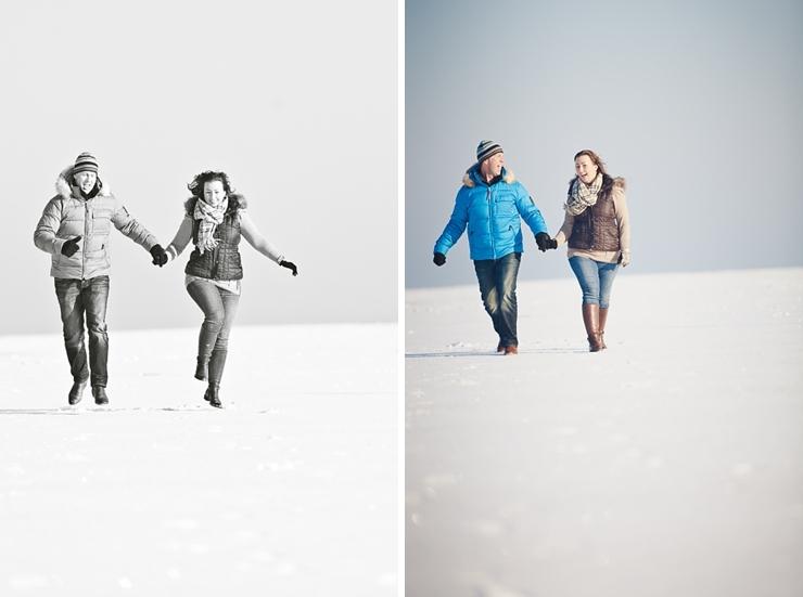 huppelen in de sneeuw scheveningen strand