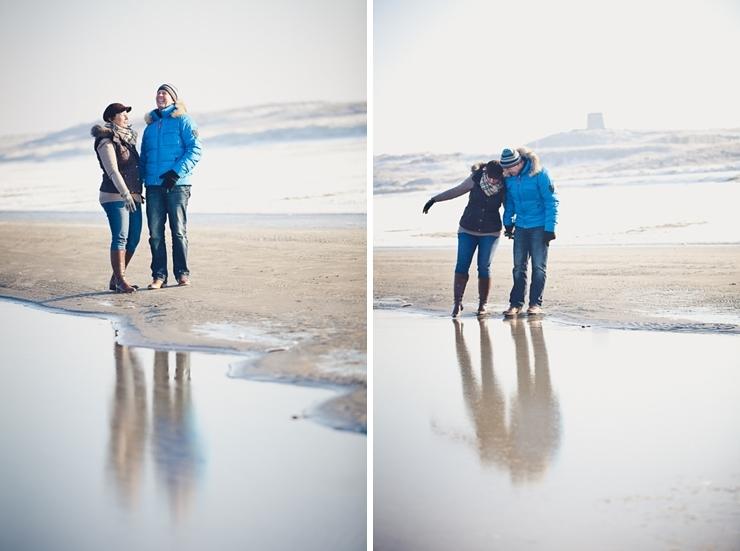 verloofd op het strand scheveningen