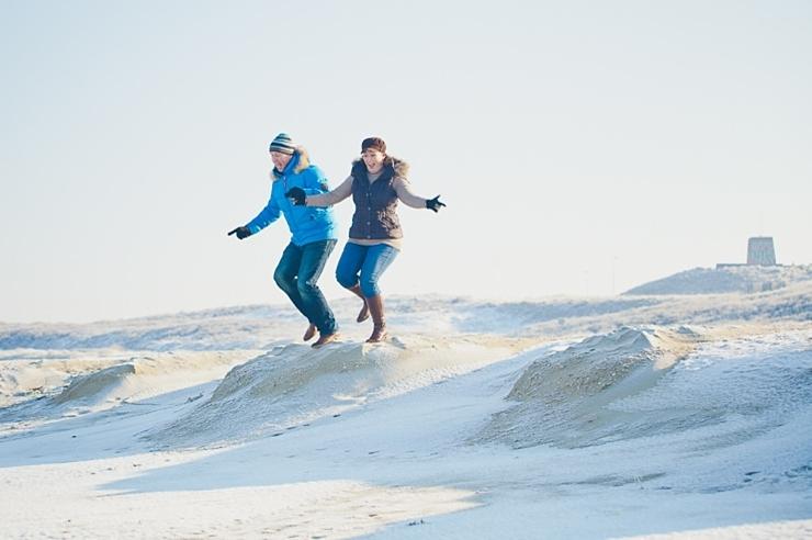 springen van de duinen scheveningen loveshoot