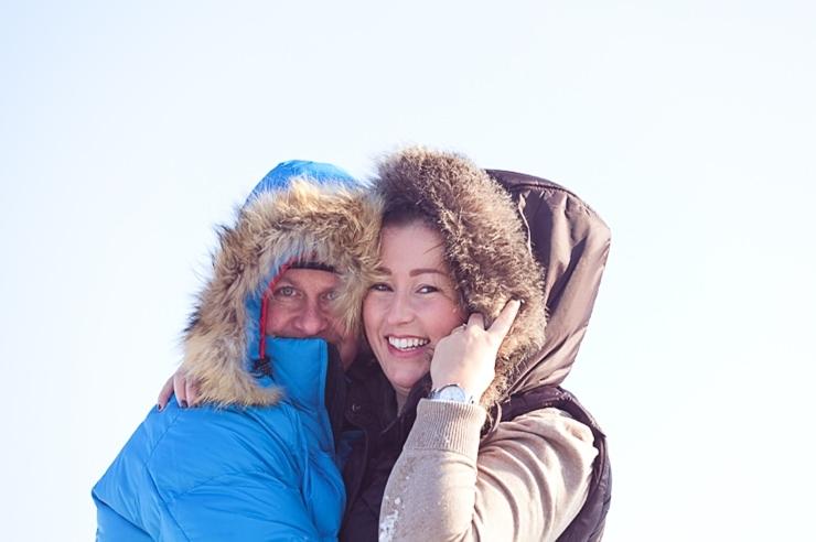 portretfotografie loveshoot verloofd wintershoot