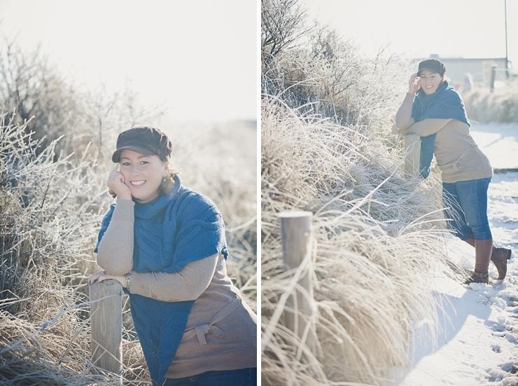 portret fotograaf scheveningen winter sneeuw