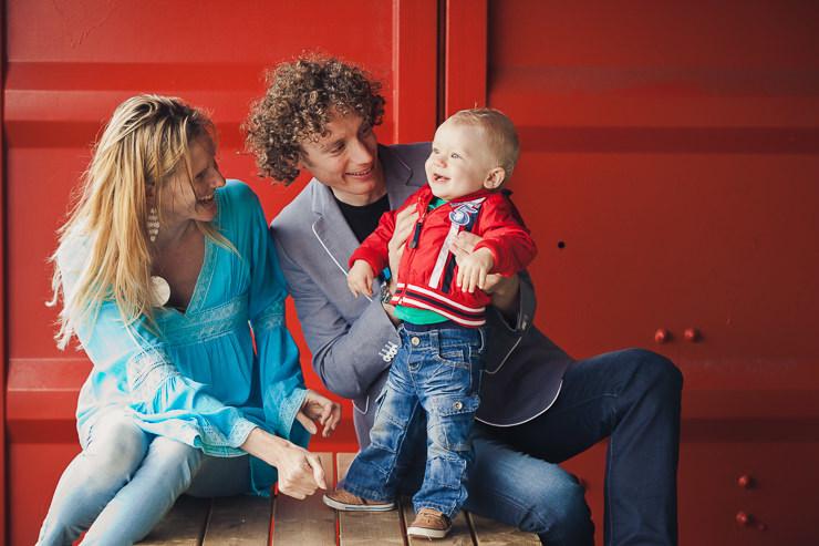 rood gezin familieportret scheveningen strand