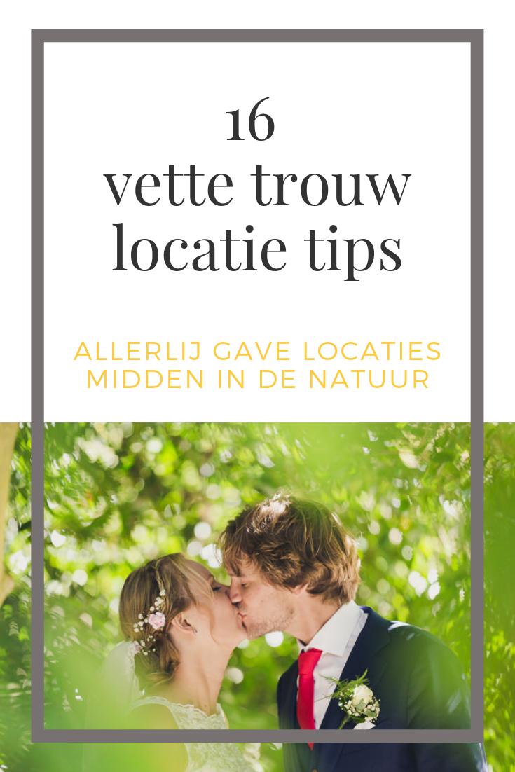 natuur trouwlocaties tips trouwen