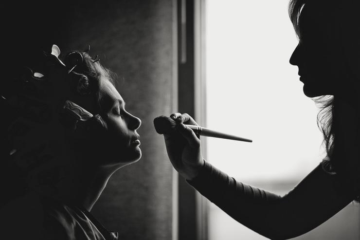 zwart wit makeup film noir contrast